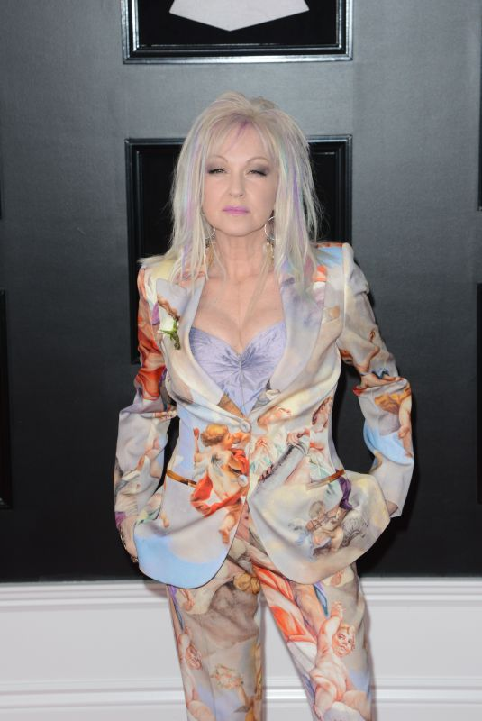 CYNDI LAUPER at Grammy 2018 Awards in New York 01/28/2018