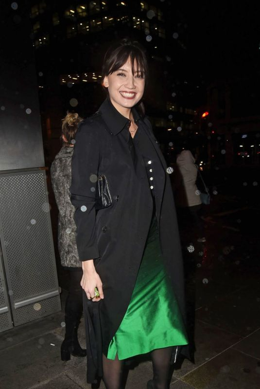 DAISY LOWE Leaves Heron Tower in London 01/30/2018