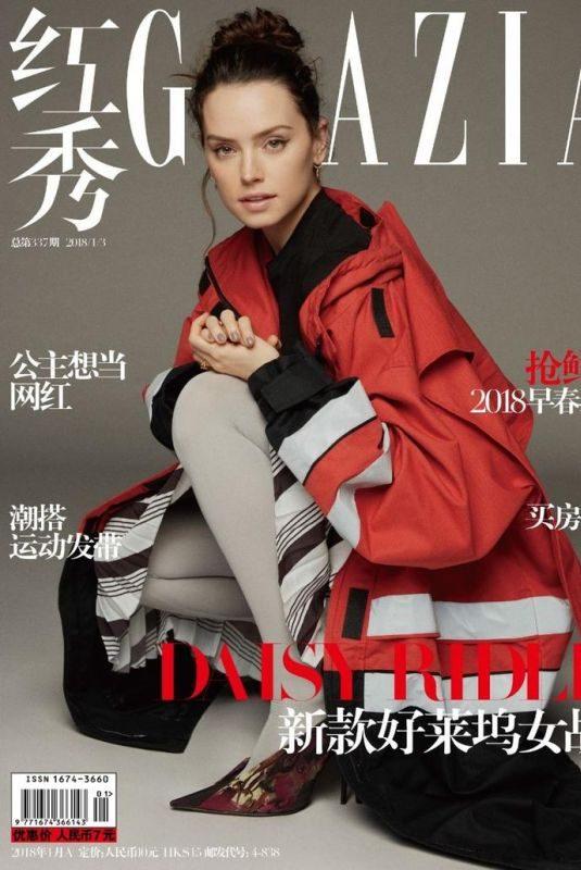 DAISY RIDLEY for Grazia Magazine, China January 2018 Issue