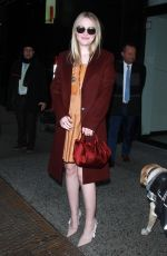DAKOTA FANNING Arrives at Good Morning America in New York 01/16/2018