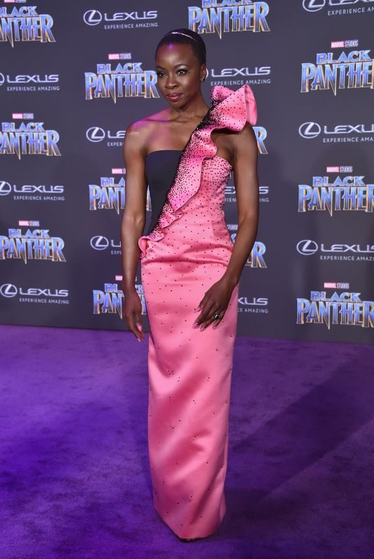 DANAI GURIRA at Black Panther Premiere in Hollywood 01/29/2018