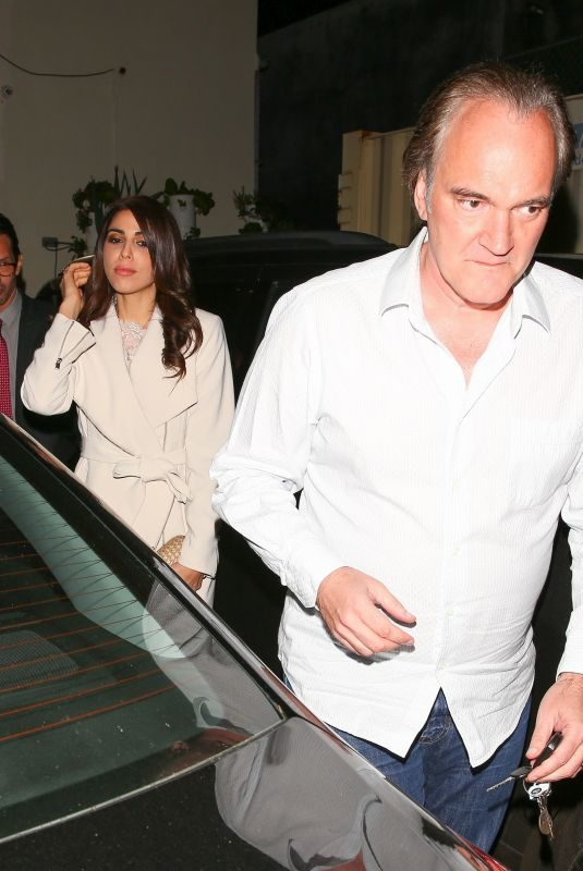 DANIELA PICK and Quentin Tarantino at Craig's in West Hollywood 01/14/2018