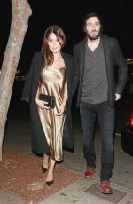 DANIELLE BUX and Nate Greenwald Out for Dinner at Delilah in Los Angeles 01/12/2018