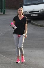 DANIELLE LLOYD Leaves a Gym in Birmingham 01/30/2018