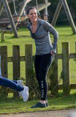 DANIELLE LLOYD Working Out in a Park in Birmingham 01/26/2018