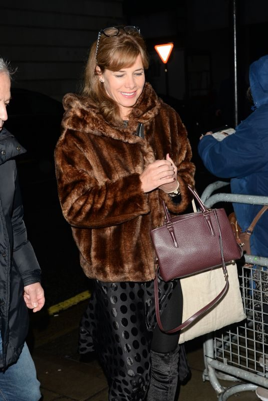DARCEY BUSSELL Arrives at BBC Radio 2 Studios in London 01/12/2018