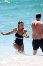 DEBORAH HUTTON in Swimsuit at Bronte Beach in Sydney 01/20/2018
