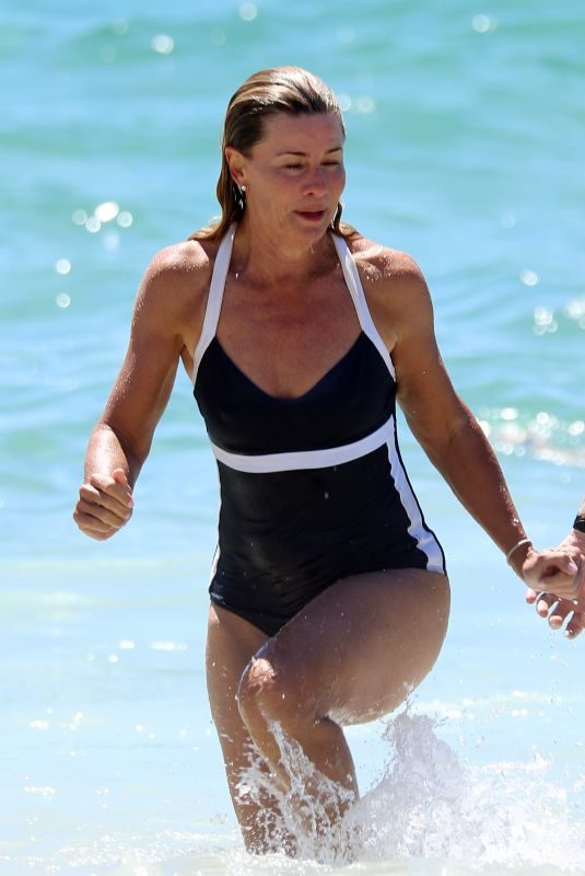 DEBORAH HUTTON in Swimsuit at Bronte Beach in Sydney 01/20/2018