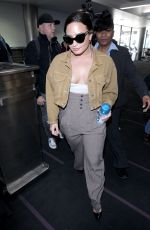 DEMI LOVATO at LAX Airport in Los Angeles 01/22/2018