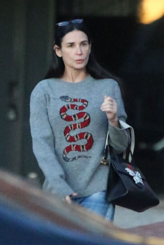 DEMI MOORE Out and Abour in Los Angeles 01/20/2018