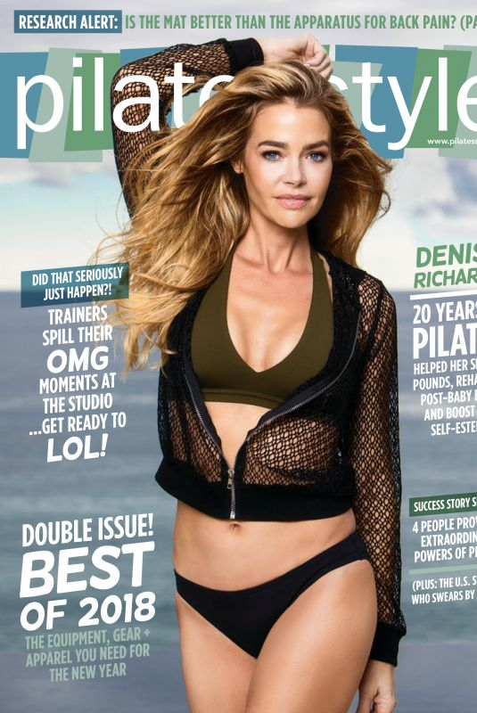 DENISE RICHARDS in Pilates Style Magazine, January/February 2018