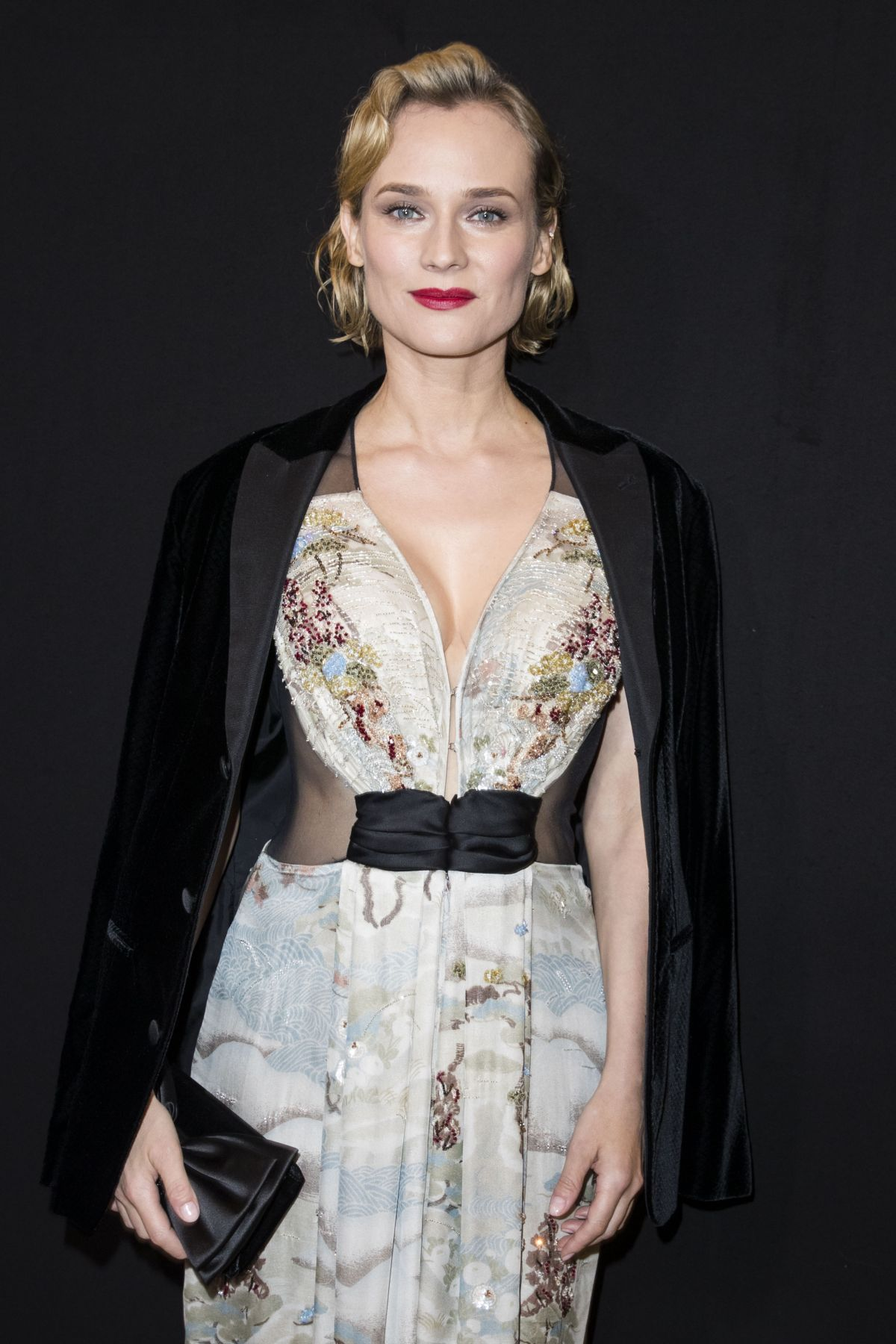 Diane Kruger At Giorgio Armani Prive Show At 2018 Haute Couture
