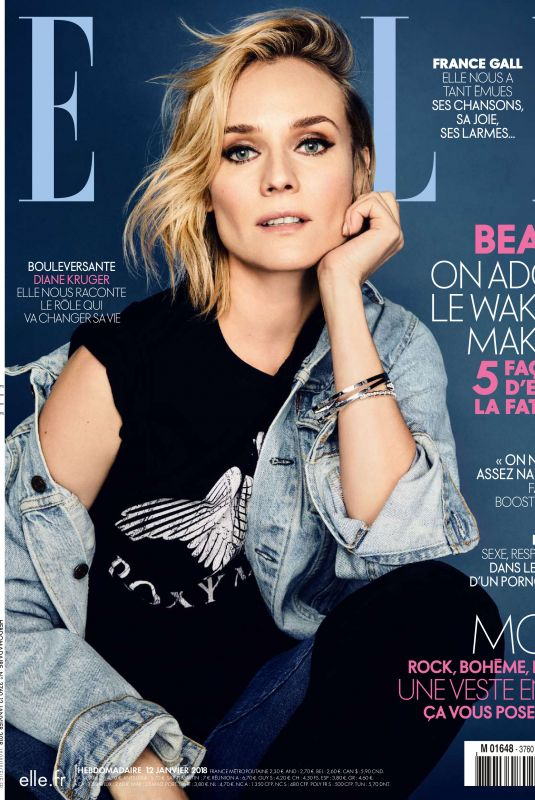 DIANE KRUGER in Elle Magazine, January 2018 Issue