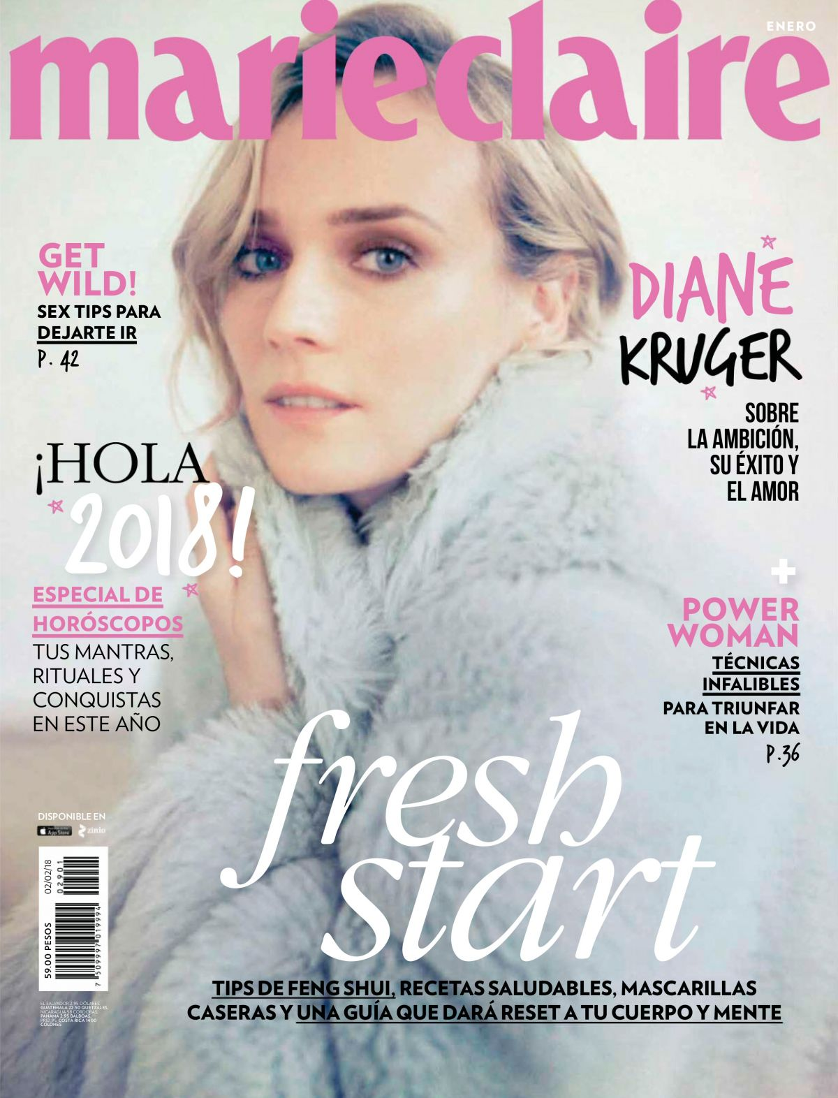 diane kruger in marie claire magazine mexico january 2018 hawtcelebs. Black Bedroom Furniture Sets. Home Design Ideas