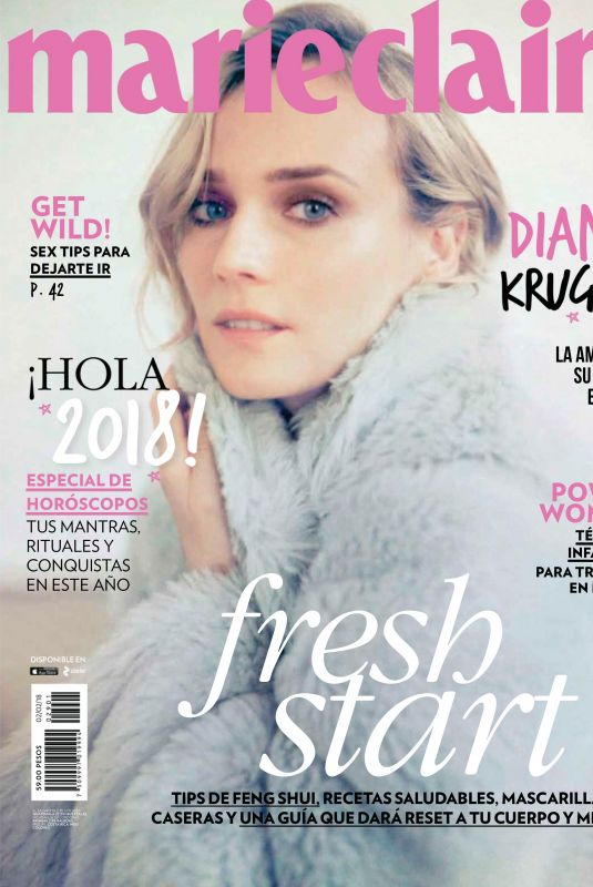 DIANE KRUGER in Marie Claire Magazine, Mexico January 2018