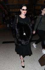 DITA VON TEESE at LAX Airport in Los Angeles 01/30/2018