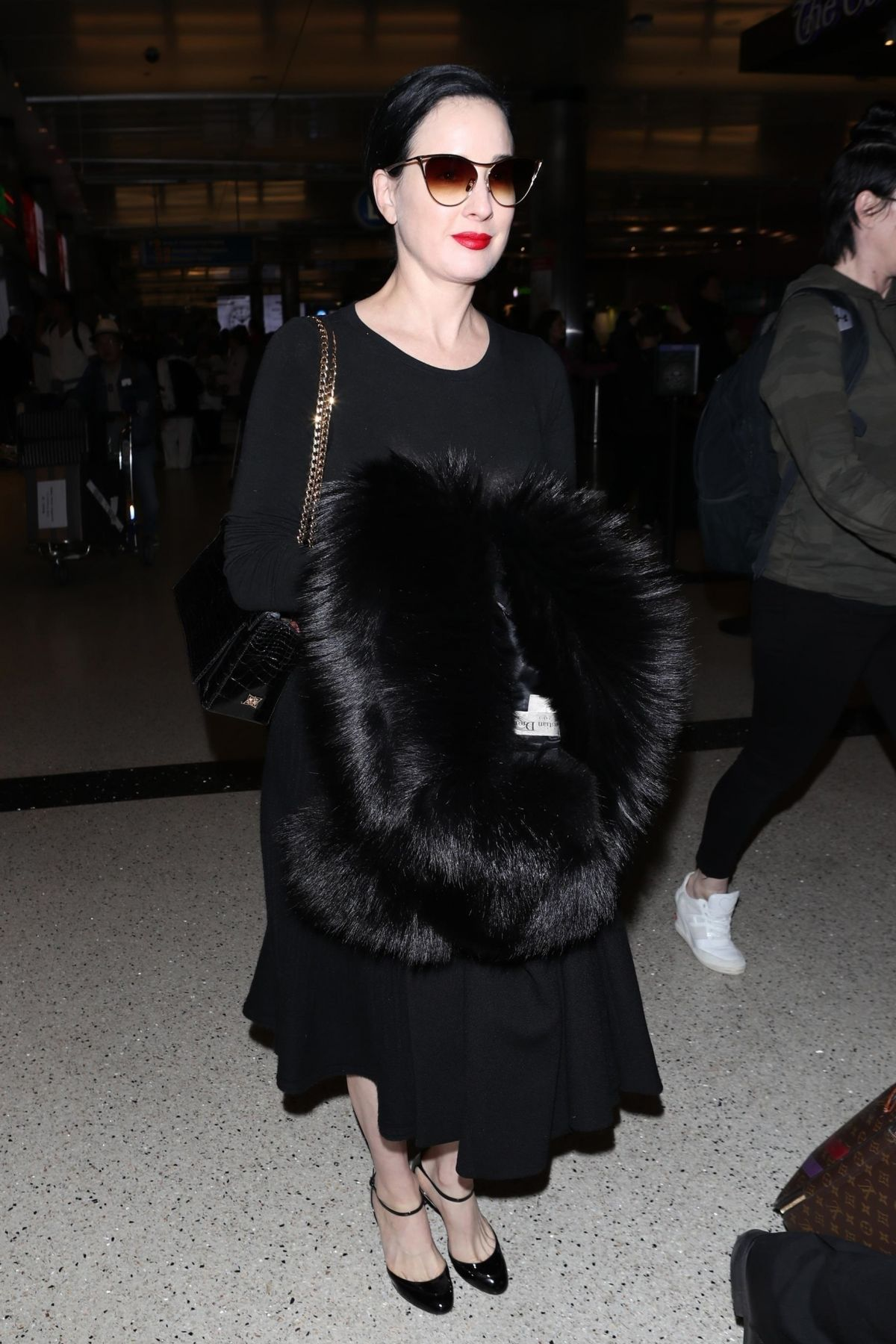 46e09090300b DITA VON TEESE at LAX Airport in Los Angeles 01 30 2018 - HawtCelebs