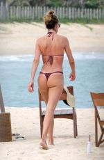DOUTZEN KROES and Pregnant CANDICE SWANEPOEL in Bikinis at a Beach in Bahia 01/10/2018