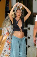 DOUTZEN KROES and Pregnant CANDICE SWANEPOEL in Bikinis at Espelho Beach in Bbahia 01/06/2018