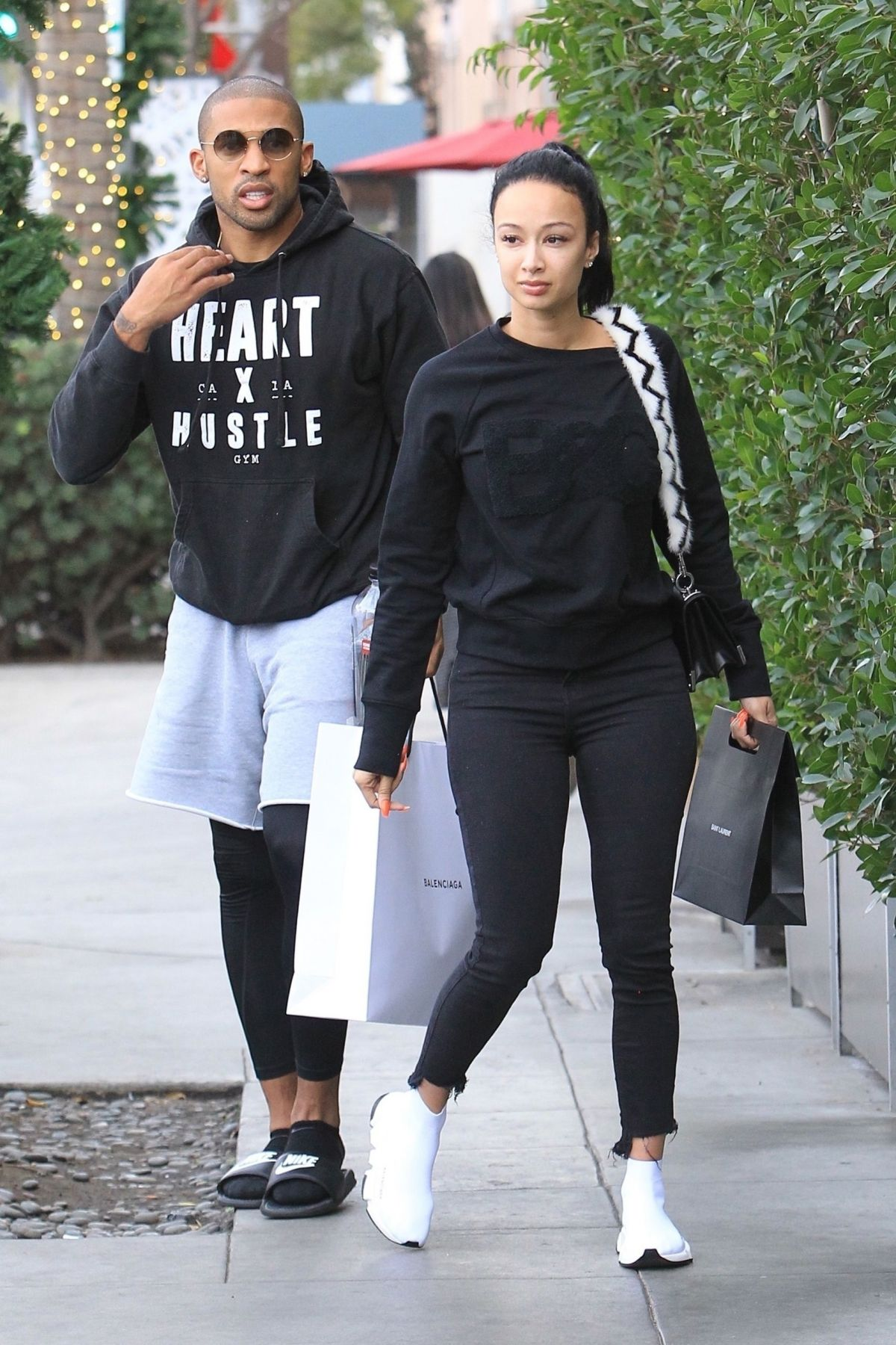 DRAYA MICHELE and Orlando Scandrick Out Shopping in ...