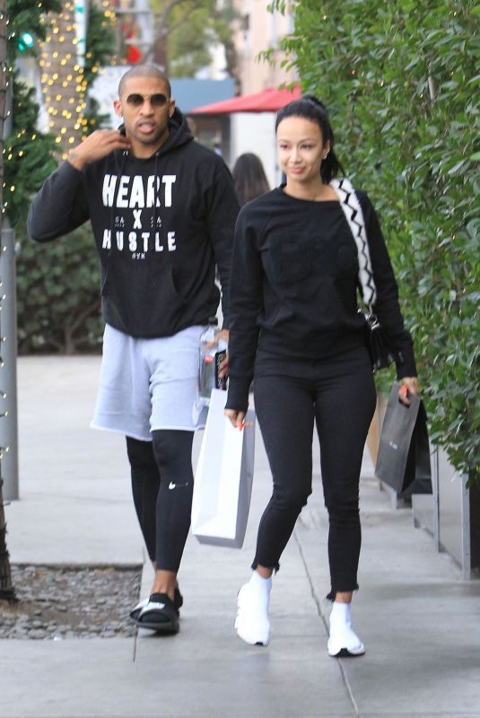 DRAYA MICHELE and Orlando Scandrick Out Shopping in Beverly Hills 01/03/2018