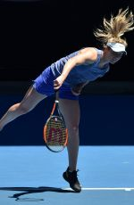 ELINA SVITOLINA at Practice Session at Australian Open Tennis Tournament in Melbourne 01/14/2018