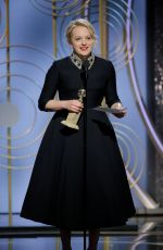 ELISABETH MOSS at 75th Annual Golden Globe Awards in Beverly Hills 01/07/2018