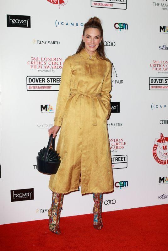 ELIZABETH CHAMBERS at 2018 London Critics Circle Film Awards in London 01/28/2018