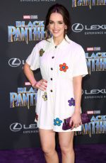 ELIZABETH HENSTRIDGE at Black Panther Premiere in Hollywood 01/29/2018