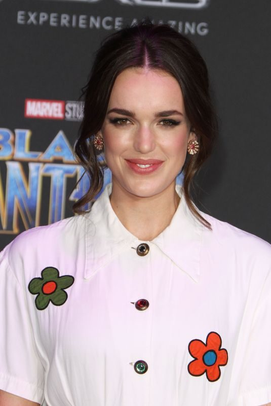 ELIZABETH HENSTRIDGE at Black Panther Premiere in Hollywood 01/29/2018