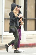 ELIZABETH OLSEN Out for Coffee with a Friend in Los Angeles 01/19/2018