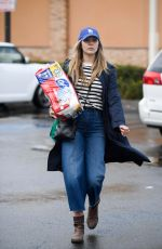 ELIZABETH OLSEN Out Shopping in Los Angeles 01/09/2018