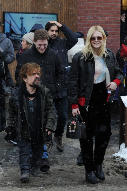 ELLE FANNING and Peter Dinklage at Sundance Film Festival 01/20/2018