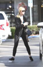 ELLE FANNING Arrives at a Gym in Los Angeles 01/14/2018