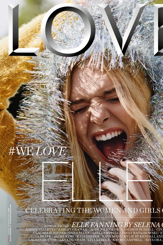 ELLE FANNING for Love Magazine, Spring/Summer 2018