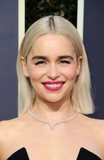 EMILIA CLARKE at 75th Annual Golden Globe Awards in Beverly Hills 01/07/2018