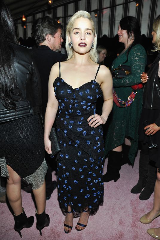 EMILIA CLARKE at W Magazine Celebrates Its Best Performances Portfolio and Golden Globes in Los Angeles 01/04/2018