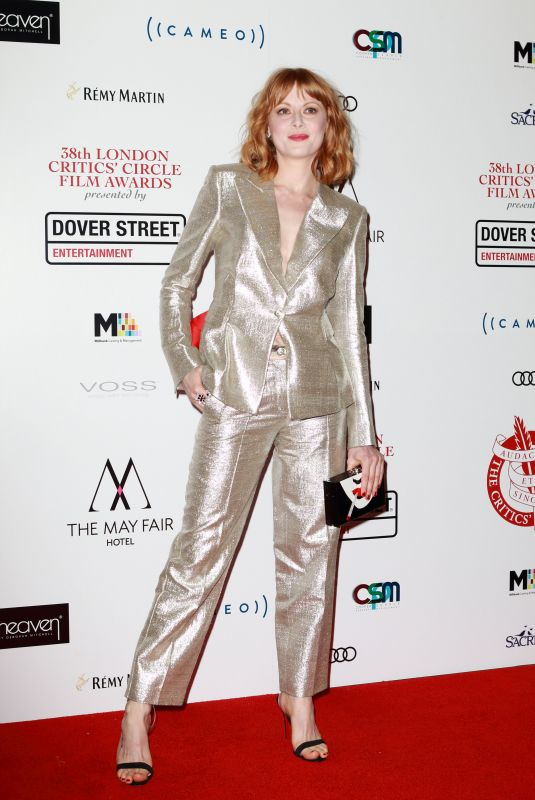 EMILY BEECHAM at 2018 London Critics Circle Film Awards in London 01/28/2018