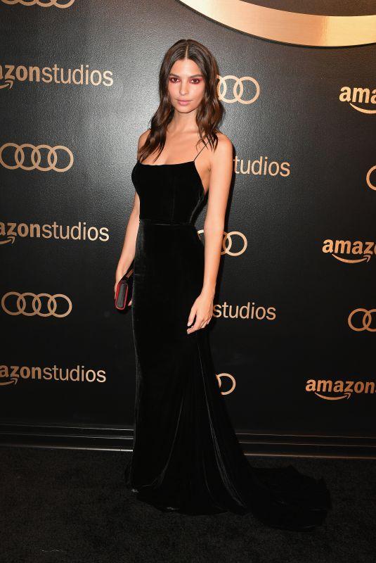 EMILY RATAJKOWSKI at Amazon Studios Golden Globes Celebration at Beverly Hilton Hotel 01/07/2018