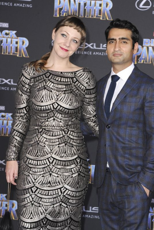 EMILY V. GORDON at Black Panther Premiere in Hollywood 01/29/2018