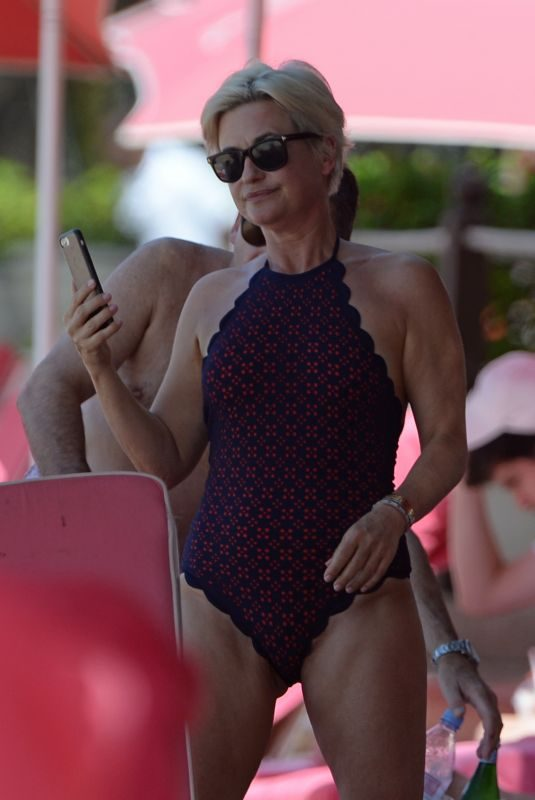 EMMA FORBES in Swimsuit on New Year's Day at a Beach in Barbados 01/01/2018
