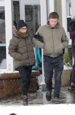 EMMA ROBERTS and Evan Peters at Sundance Film Festivak in Park CIty 01/20/2018