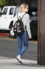 EMMA ROBERTS in Jeans Out Shopping in Los Angeles 01/30/2018