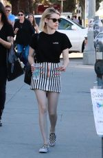EMMA ROBERTS in Short Skirt Shopping at Melrose Trading Post 01/28/2018