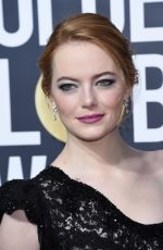 EMMA STONE at 75th Annual Golden Globe Awards in Beverly Hills 01/07/2018