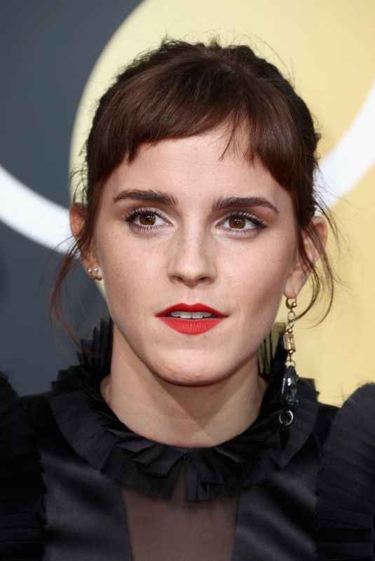 EMMA WATSON at 75th Annual Golden Globe Awards in Beverly Hills 01/07/2018