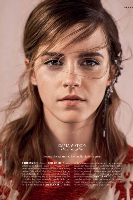 EMMA WATSON in Marie Claire Magazine, February 2018 Issue