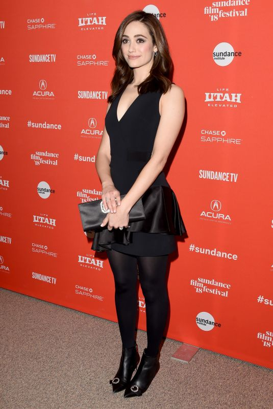 EMMY ROSSUM at A Futile and Stupid Gesture Premiere at 2018 Sundance Film Festival 01/24/2018