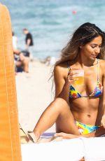 ERIKA WHEATON in Bikini at a Beach in Miami 01/12/2018