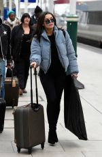 FAYE BROOKES and CATHERINE TYLDESLEY Arrives Back to Manchester 01/24/2018